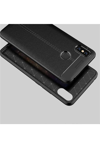 Evastore Xiaomi Mi Max 3 Kılıf Zore Niss Silikon - Siyah