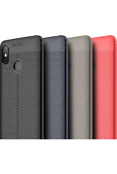 Evastore Xiaomi Mi Max 3 Kılıf Zore Niss Silikon - Kırmızı