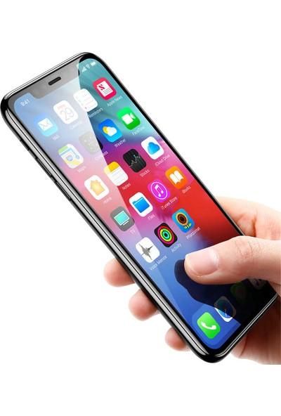 Evastore Apple iPhone XR 6.1 Kenarları Cam Ekran Koruyucu - Siyah