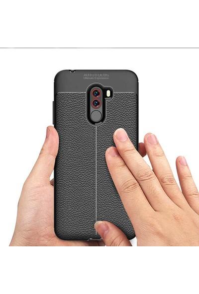 Evastore Xiaomi Pocophone F1 Kılıf Zore Niss Silikon - Gri