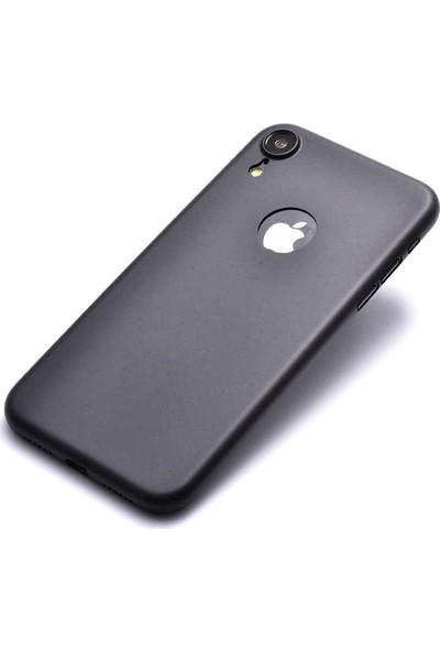 Evastore Apple iPhone XR 6.1 Kılıf PP Silikon - Siyah