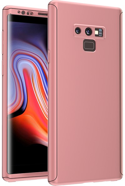 Evastore Galaxy Note 9 Kılıf Voero 360 Çift Parçalı Kılıf - Rose Gold