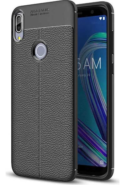 Evastore Asus Zenfone Max Pro ZB602KL Kılıf Zore Niss Silikon - Siyah