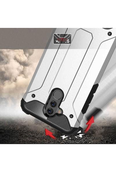 Evastore Huawei Mate 20 Lite Kılıf Zore Crash Silikon - Kırmızı