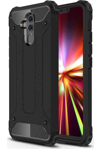 Evastore Huawei Mate 20 Lite Kılıf Zore Crash Silikon - Siyah