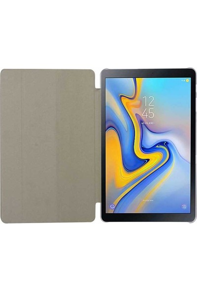 Evastore Galaxy Tab A T590 Smart Cover Standlı 1-1 Kılıf - Mavi