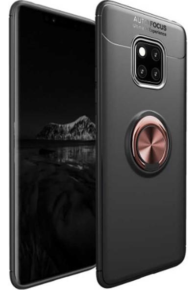 Evastore Huawei Mate 20 Pro Kılıf Zore Ravel Silikon - Siyah - Rose Gold
