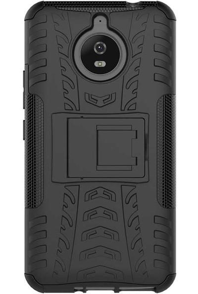 Evastore Lenovo Moto E4 Plus Kılıf Zore Hibrit Silikon - Siyah