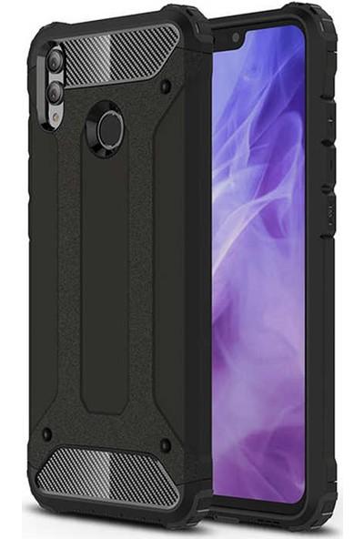 Evastore Huawei Honor 8X Kılıf Zore Crash Silikon - Siyah