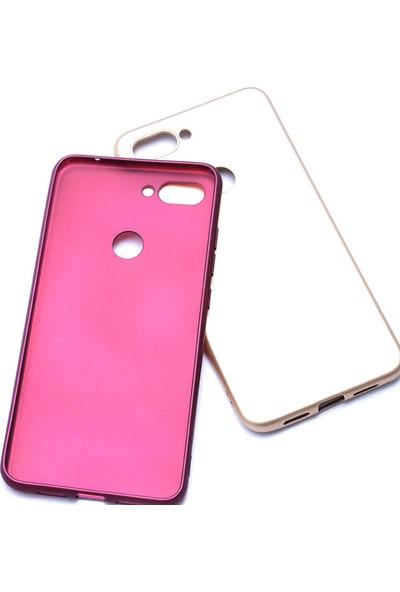Evastore Xiaomi Mi 8 Lite Kılıf Zore Premier Silikon - Rose Gold