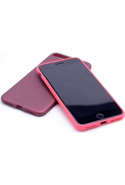Evastore Apple iPhone 8 Plus Kılıf Zore Premier Silikon - Siyah