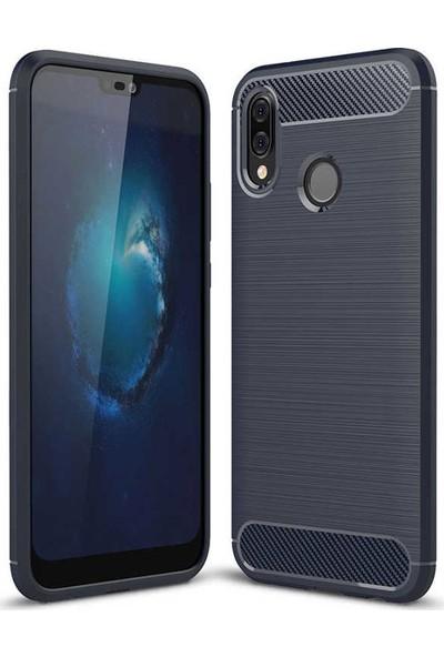 Evastore Huawei P20 Lite Kılıf Zore Room Silikon - Lacivert
