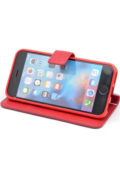 Evastore Apple iPhone 7 Plus Kılıf Zore New Delüxe Kapaklı Standlı Kılıf - Siyah