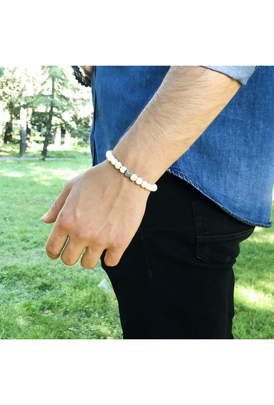 Zuk Collection 10016 Doğal Taş Havlit Bileklik 'Radiant Silver'
