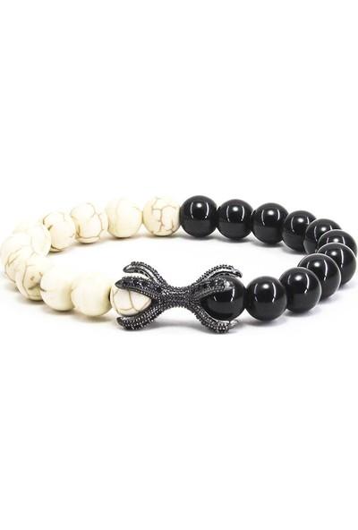 Zuk Collection Doğal Taş Kaplangözü Bileklik 'Yin ,Yang'