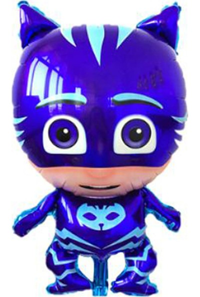 Balonpark 1 Adet Pijamaskeliler Kedi Çocuk Folyo Balon Pija Masks Uçan Balon