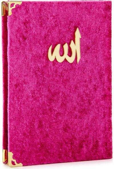 İhvan Kadife Kaplı Yasin Kitabı Allah Lafızlı Çanta Boy Fuşya