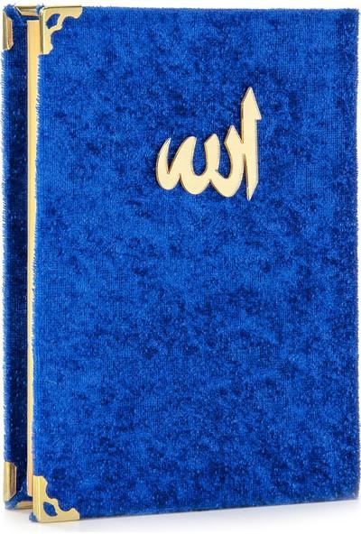İhvan Kadife Kaplı Yasin Kitabı Allah Lafızlı Çanta Boy Lacivert