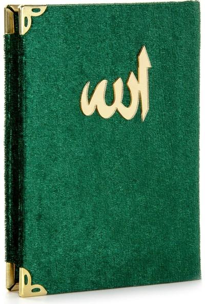 İhvan Kadife Kaplı Yasin Kitabı Allah Lafızlı Cep Boy Yeşil