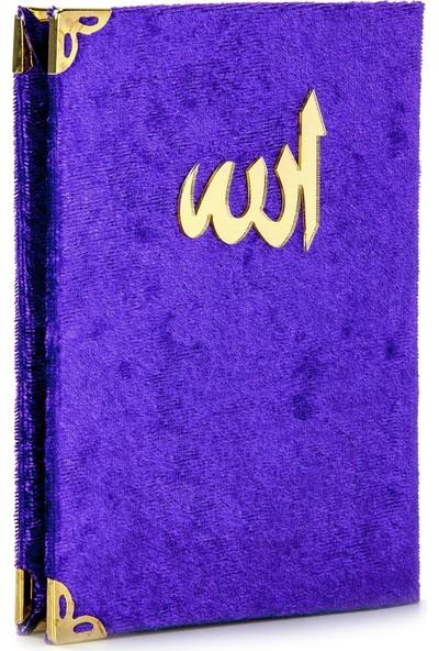İhvan Kadife Kaplı Yasin Kitabı Allah Lafızlı Cep Boy Mor