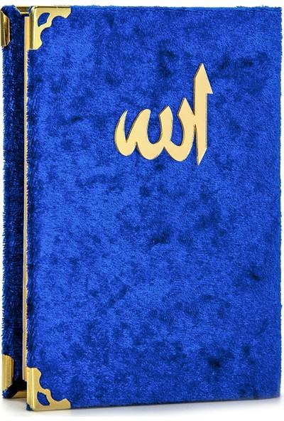 İhvan Kadife Kaplı Yasin Kitabı Allah Lafızlı Cep Boy Lacivert