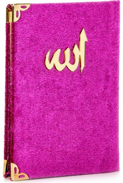 İhvan Kadife Kaplı Yasin Kitabı Allah Lafızlı Cep Boy Fuşya