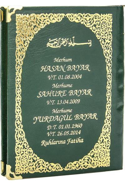İhvan İsim Baskılı Ciltli Yasin Kitabı Çanta Boy Yeşil
