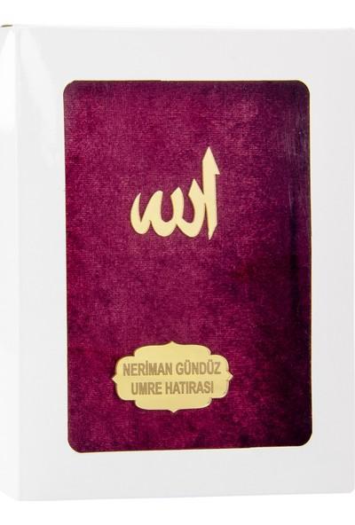 İhvan Karton Kutulu İsme Özel Kadife Kaplı Yasin Kitabı Beyaz