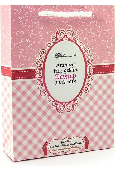 Ecrin Yayınları İsme Özel Yasin Kitabı Seti Tesbihli Şekerli Ve Magnetli Mevlüt Hediyesi Pembe