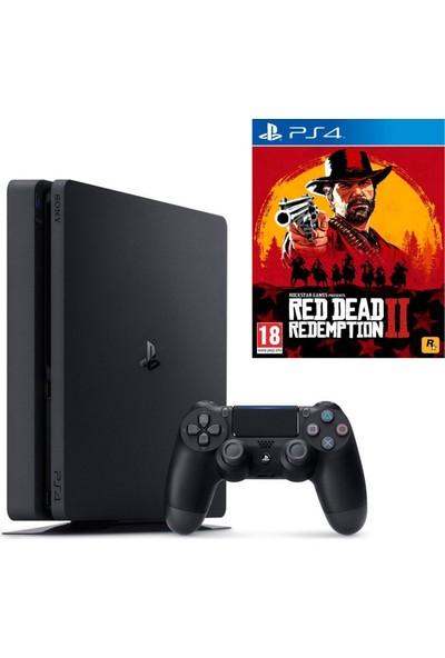 Sony PS4 Slim 500 GB Oyun Konsolu + PS4 Red Dead Redemption 2