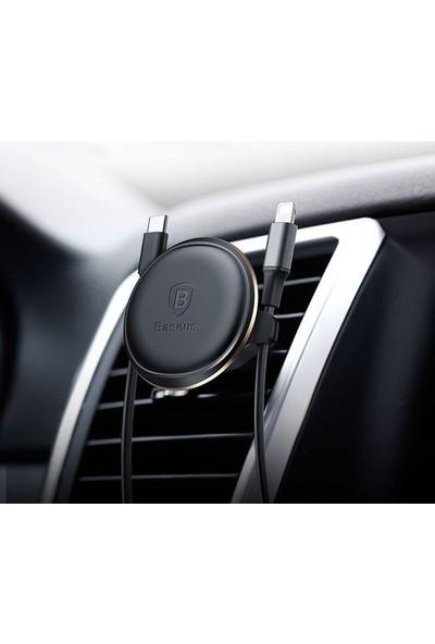 Baseus Araç Telefon Tutucu Kablo Mıknatıslı Gold - SUGX-A0V