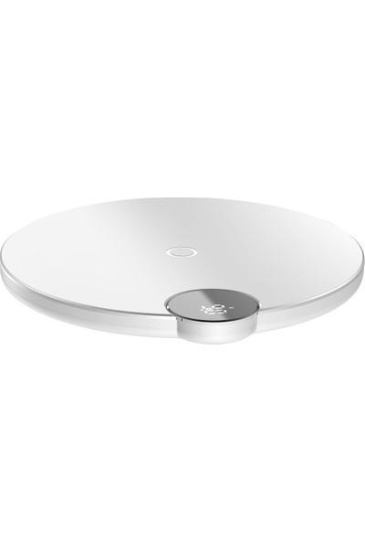Baseus Digital Led Wireless Hızlı Şarj Cihazı Beyaz