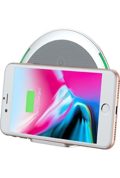 Baseus Foldable Stand Wireless Beyaz Hızlı Şarj Cihazı