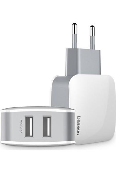 Baseus Letour Duvar Şarj Cihazı 2 USB Çıkışlı