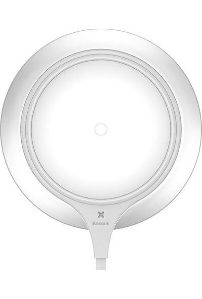 Baseus Metal iPhone Wireless Hızlı Beyaz Şarj Cihazı 7.5w
