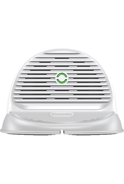 Baseus Silicone Horizontal Yatay Wireless Şarj Cihazı Beyaz