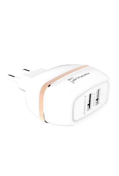 Konfulon 2.4A Duvar Şarj Cihazı Çift USB Girişli
