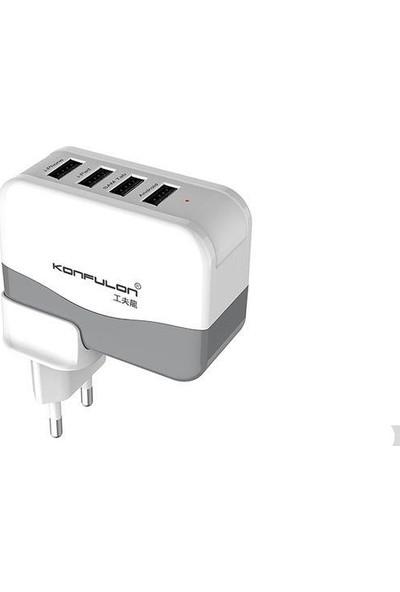 Konfulon 4.2A Duvar Şarj Cihazı 4 USB Girişli