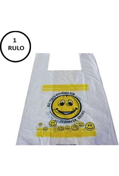 Naksan Emoji Baskılı Poşet Orta Boy 1 Rulo (Rulo 150' li)