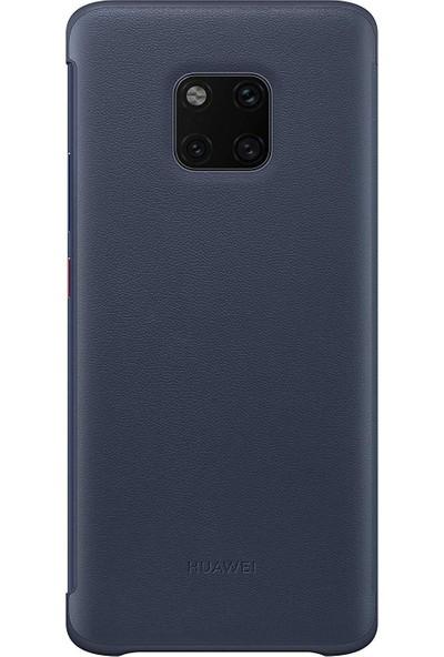 Huawei Mate 20 Pro View Cover - Koyu Mavi