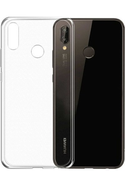Case 4U Huawei P20 Lite Silikon Kılıf Şeffaf