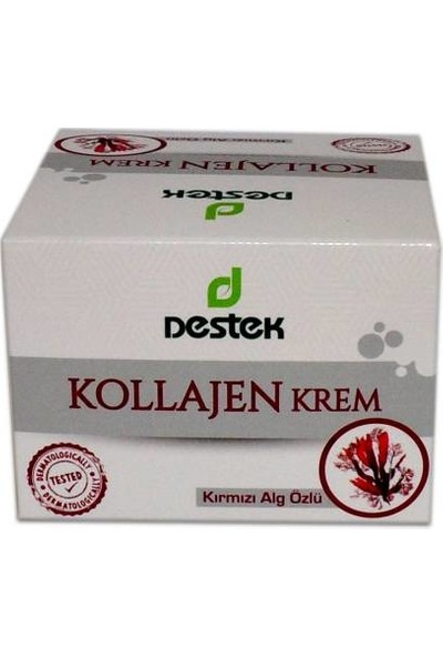 Destek Kollajen Krem 50 ml (Kırmızı Yosun Özlü)