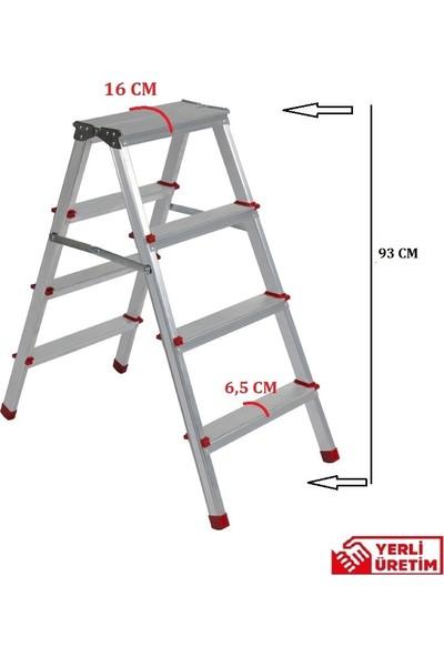 Beykon 4+4 Çift Çıkışlı Alüminyum Merdiven