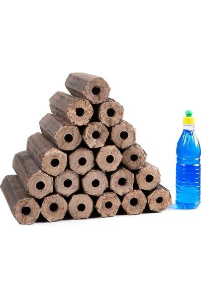 Narım Şömine Odunu Pres200Kg Doğal Ve Katkısız Tutuşturucu
