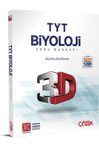 Çözüm Yayınları TYT 3D Biyoloji Soru Bankası - Kerim Korkmaz