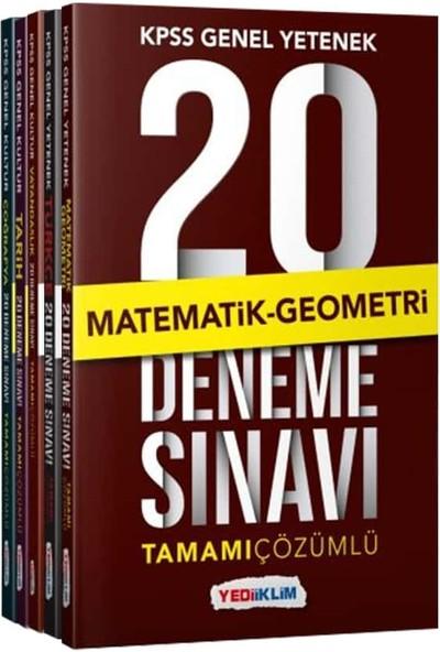Yediiklim Yayınları KPSS Genel Kültür Genel Yetenek Tamamı Çözümlü 20 Deneme Seti (5 Kitap Seti)