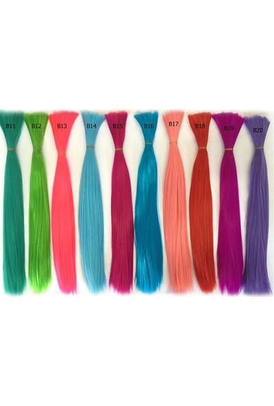 Peruk Market 10 Adet Renkli Boncuk Kaynaklık Saç + Takım Aparatları