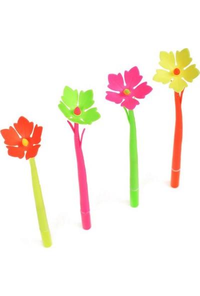 Piramigo Çiçek Jel Mürekkepli Kalemler 4 Adet - Flower Gel Pen 4 Pcs