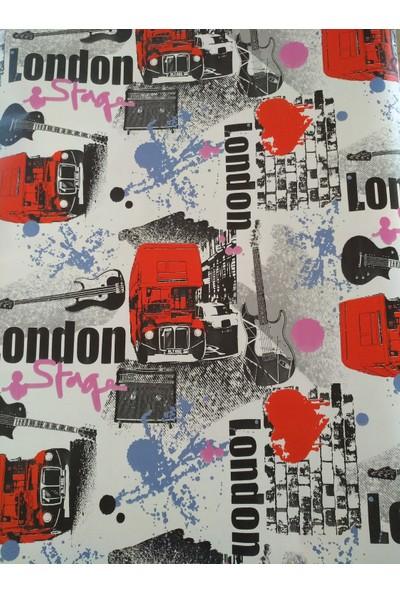 Venilia Londra Ve Otobüsler Desenli Dekoratif Yapışkanlı Folyo