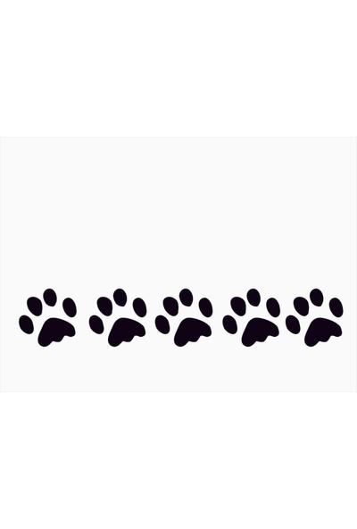 Başaran Sticker Köpek Patisi 5 Adet Priz Sticker 45 x 7
